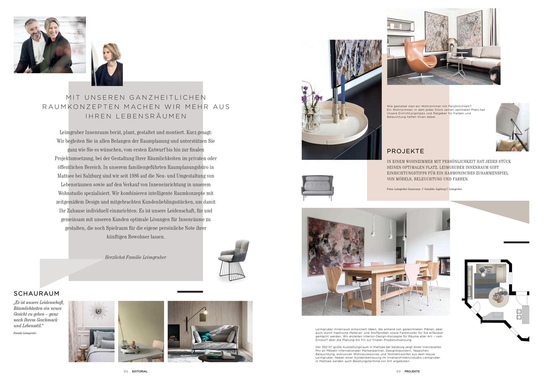 Möbel Magazin – Leimgruber Innenraum in Mattsee bei Salzburg